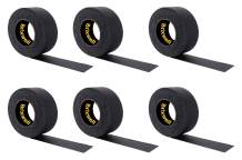 Brixwell 6 Rolls - Gaffer Tape Matte Black Professional Grade 2 in. x 55 yds. Heavy Duty Gaffers Tape Non-Reflective Multipurpose Made in the USA