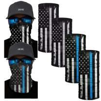 AWUWE US Flag Face Mask Bandana Balaclava Headwear Neck Gaiter Unisex Seamless Headband Reusable Scarf Face Cover