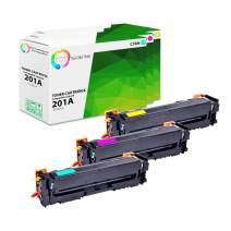 TCT Premium Compatible Toner Cartridge Replacement for HP 201A CF401A CF402A CF403A Works with HP Color Laserjet M277DW M277N M252DW M252N Printers (Cyan, Magenta, Yellow) - 3 Pack