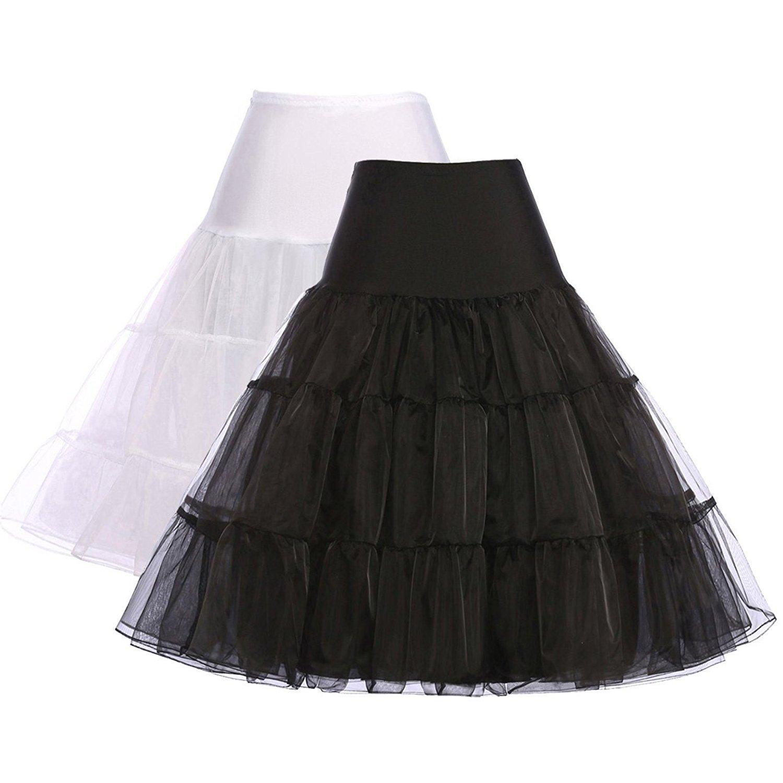 GRACE KARIN 50s Petticoat Skirt Rockabilly Dress Crinoline Underskirts for Women