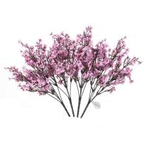 MEHELANY Baby Breath Artificial Flowers, 4 Pcs Gypsophila Fake Flowers Bouquet 5 Branch Silk Flowers for Home, Wedding, Party, DIY Decoration (Pink, 4)…