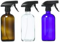DII Chalkboard Label Refillable Glass Spray Bottle Set, 16 oz, Variety S/3