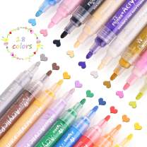Acrylic Paint Pens for Rocks Painting, Ceramic, Glass, Wood, Fabric, Canvas, Mugs, DIY Craft Making Supplies, Scrapbooking Craft, Card Making. Acrylic Paint Marker Pens Permanent (18 colors)