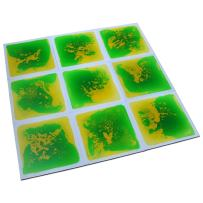 """Art3d Non-Toxic Children Play & Exercise Mat - Puzzle Play Mat for Kids, Toddlers or Baby, 20"""" X 20"""" Dynamic Green-Yellow"""