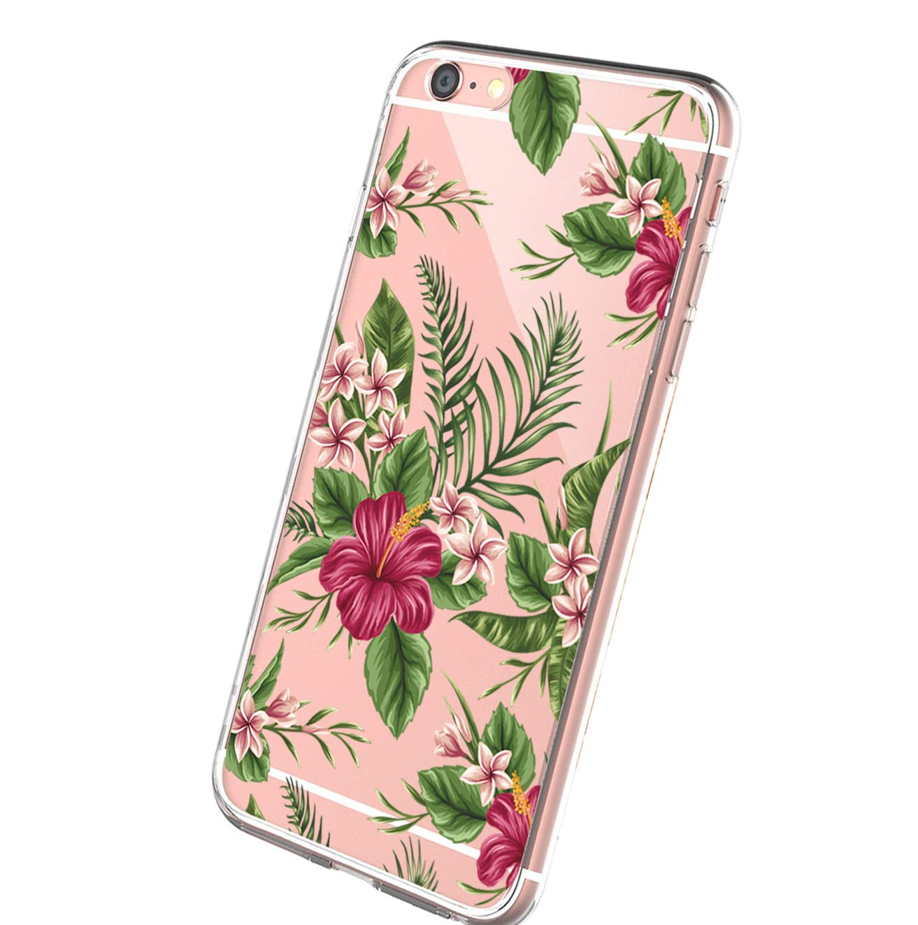 Wouier Case Compatible with iPhone 6 6s/6plus 6splus TPU Soft Silicone Transparent Clear Back Cover (iPhone6 6S 4.7inch, Color 13)