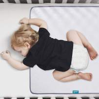 """Waterproof Protector 27"""" x 38"""", Non-Slip & Durable Wateproof Pad Mat for Baby Pack n Play/Crib/Mini Crib, Ultra Soft Reusable Lifesaver for Toddler Kid Bed As Sheet Protector, White"""