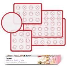 OKeanu Silicone Baking Mats Kit, Non-Stick Silicone Macaron Baking Mat Sheet -2 Half Sheets Mats, 1 Quarter Sheet Liner, 1 Round and 1 Square Cake Pan Mat-Set of 5 Reusable Silicone Liner