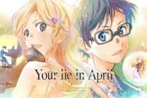 Regina Sharp Your Lie in April Poster Arima Kousei and Miyazono Kaori Poster - Japan Anime Metal Poster 12 x 8 inch