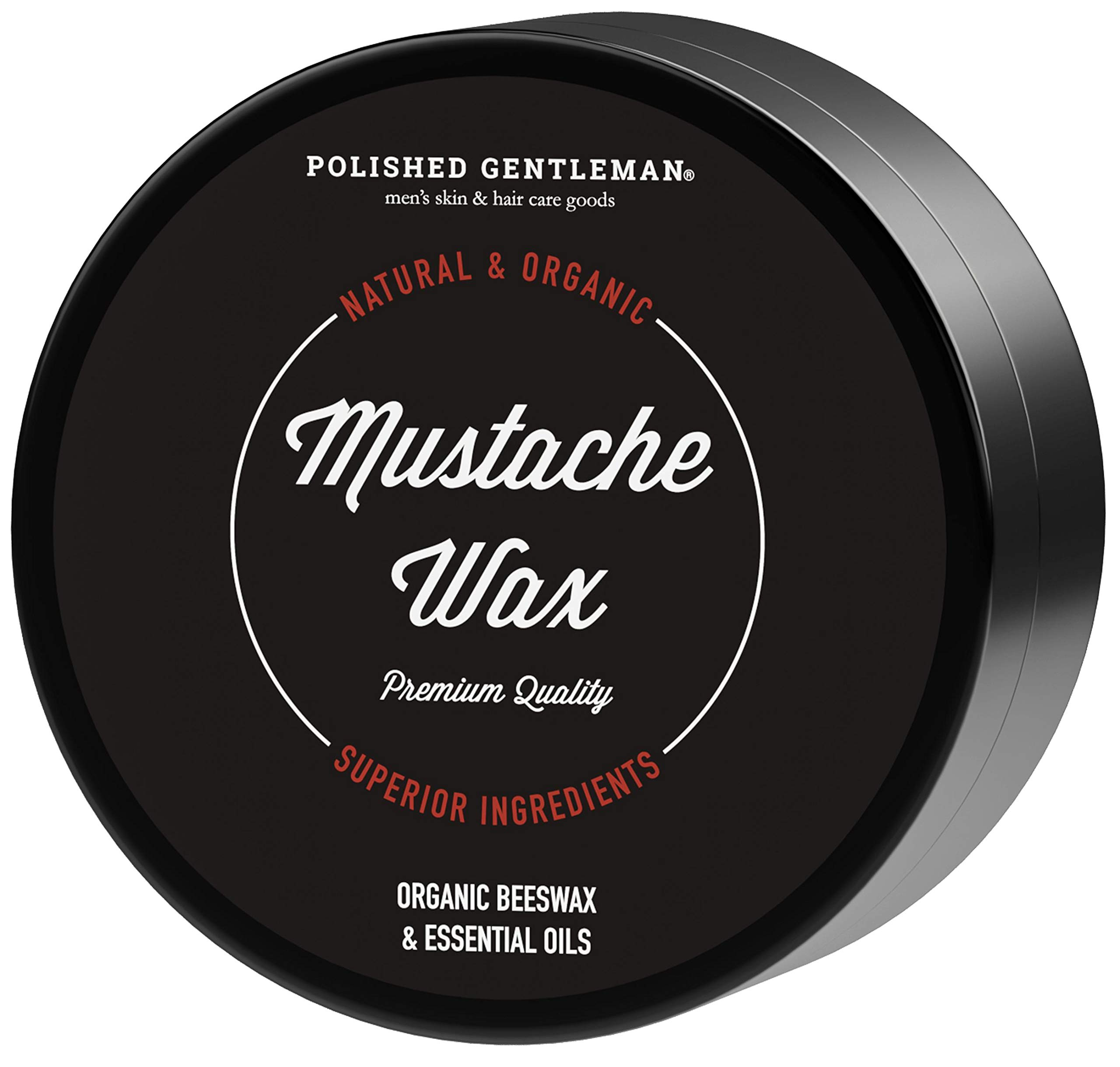 Mustache Styling Beard Beeswax Product - Leave In Conditioner With Beard Oil Shea Butter Coconut Oil Tea Tree Oil - Shaping and Styling Balm - All Natural and Organic Ingredients - 2oz - Made in USA