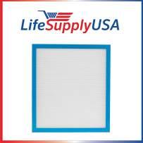 LifeSupplyUSA Replacement True HEPA Filter Compatible with Homedics AF-10FL AR-10 AF-75FL AF-75 AT-75 Hypoallergenic Air Purifiers