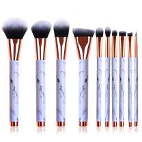 Makeup Brushes Set, 10pcs Professional Marble Pattern Makeup Brushes with Blush Foundation Highlighter Brush, Eyeshadow Concealer Eyeliner Lip Brush, Face Travel Make Up Brushes Cosmetic Tool
