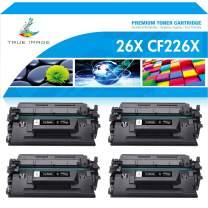 True Image Compatible Toner Cartridge Replacement for HP 26X CF226X 26A CF226A M426fdw Laserjet Pro M402n M402dn MFP M426fdn M426dw M426 M402 M402d M402dw Printer Ink High Yield (Black, 4-Pack)