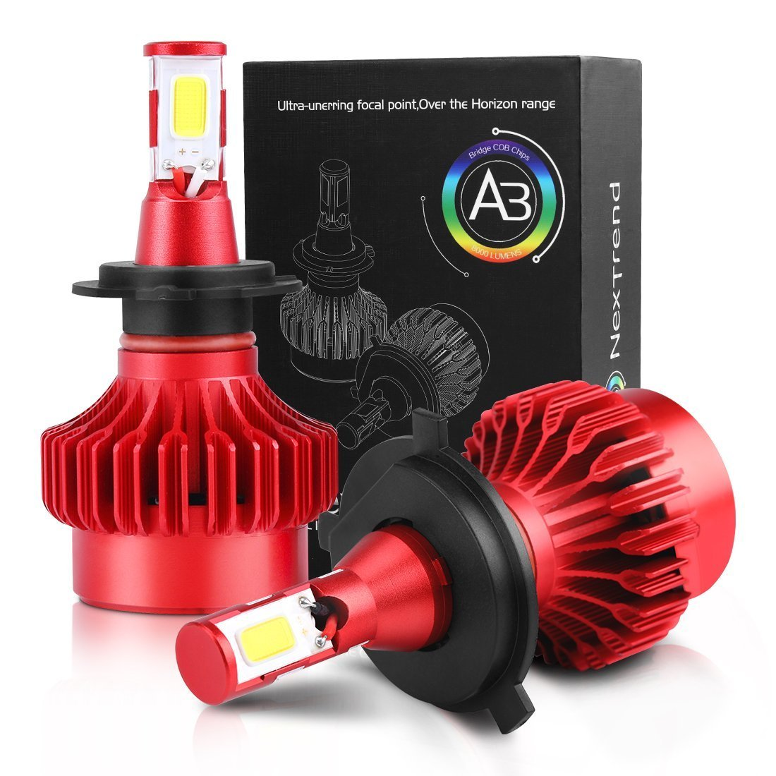 H4 9003 HB2 LED Headlight Bulbs 2 Packs 40W,NexTrend 360° Beam Angle 6000K 8000LM Bright White Light Led Headlight Bulb All-in-one Car Headlight Bulb Conversion Kit (40W 2 PACK),DC 9V-35V