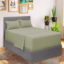Mellanni Bed Sheet Set - Brushed Microfiber 1800 Bedding - Wrinkle, Fade, Stain Resistant - 3 Piece (for Extra Deep Mattresses, Twin XL, Spa Mint)