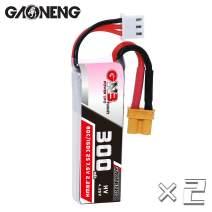 "GAONENG 2Packs GNB 2S 300mAh LiPo 7.6v LiHV XT30 80C for 3"" 90-130mm Toothpick FPV Drone"