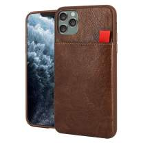 BIBERCAS Phone Wallet Case for iPhone 11,Slim Business Leather Wallet Case Card Holder,Sliding Slot Pocket Protective TPU Card Case for iPhone 11-6.1 inch