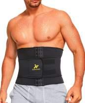 NINGMI Waist Trainer for Men Sweat Belt - Sauna Trimmer Stomach Wraps Workout Band Waste Shaper Corset Belly with Strap