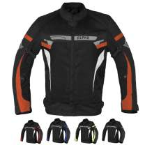 ALPHA CYCLE GEAR BREATHABLE BIKERS RIDING PROTECTION MOTORCYCLE JACKET MESH CE ARMORED (ORANGE BOSS, MEDIUM)