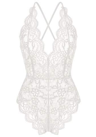 Women Lingerie Bodysuit Babydoll One Piece Lace Halter Teddy Chemise Sleepwear