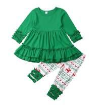 2Pcs Kids Girl Outfits Clothes Set Polka Dot T-Shirt Off Shoulder Top Ruffle Halter Crop Top + Bowknot Pants Shorts