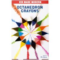 Kid Made Modern Octahedron Crayons - Toddler Art Supplies | 15Count, Multicolor
