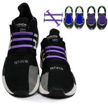 No Tie Shoelaces for Kids Adult Elastic Shoe Laces Tieless Shoe String Shoelaces for Sneakers