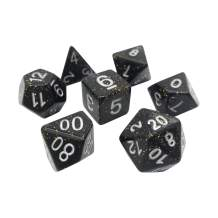 Night Skies 7 Piece Polyhedral DND Dice Set by D20 Collective Dice for Table Top Dungeons and Dragons RPGs and Gaming