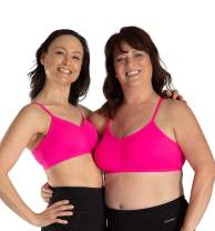 Women's Adjustable Sports Bra, Pockets, Removable Pads Post Mastectomy Comfort Everyday Bra