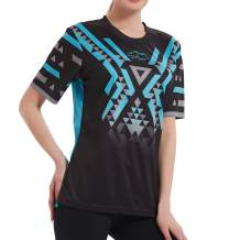 Wisdom Leaves Women Mountain Bike Shirt Short Sleeve MTB Jerseys Breathable/Moisture-Wicking