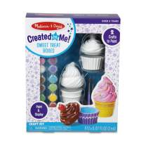 Melissa & Doug Created by Me! Sweet Treats Resin Trinket Boxes Craft Kit (Cupcake, Ice Cream, 12 Paints, 2 Brushes, Great Gift for Girls and Boys - Best for 8, 9, 10, 11, 12 Year Olds and Up)
