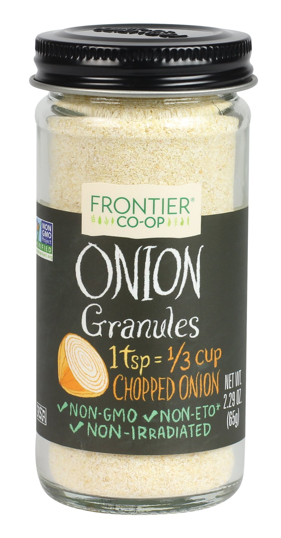 Frontier Natural Products Onion, White Granules, 2.29-Ounce