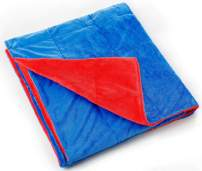 KINGDOM SECRET 3LB Kids Warming and Cooling Weighted Blankets | Provides Calming Comfort and Cozy Feelings | (36 x 59 Inch,3 lbs for 30-40 lbs Individual, Blue and Red)