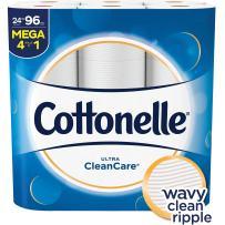 Cottonelle Ultra CleanCare Strong Toilet Paper, 24 Mega Rolls, Bath Tissue