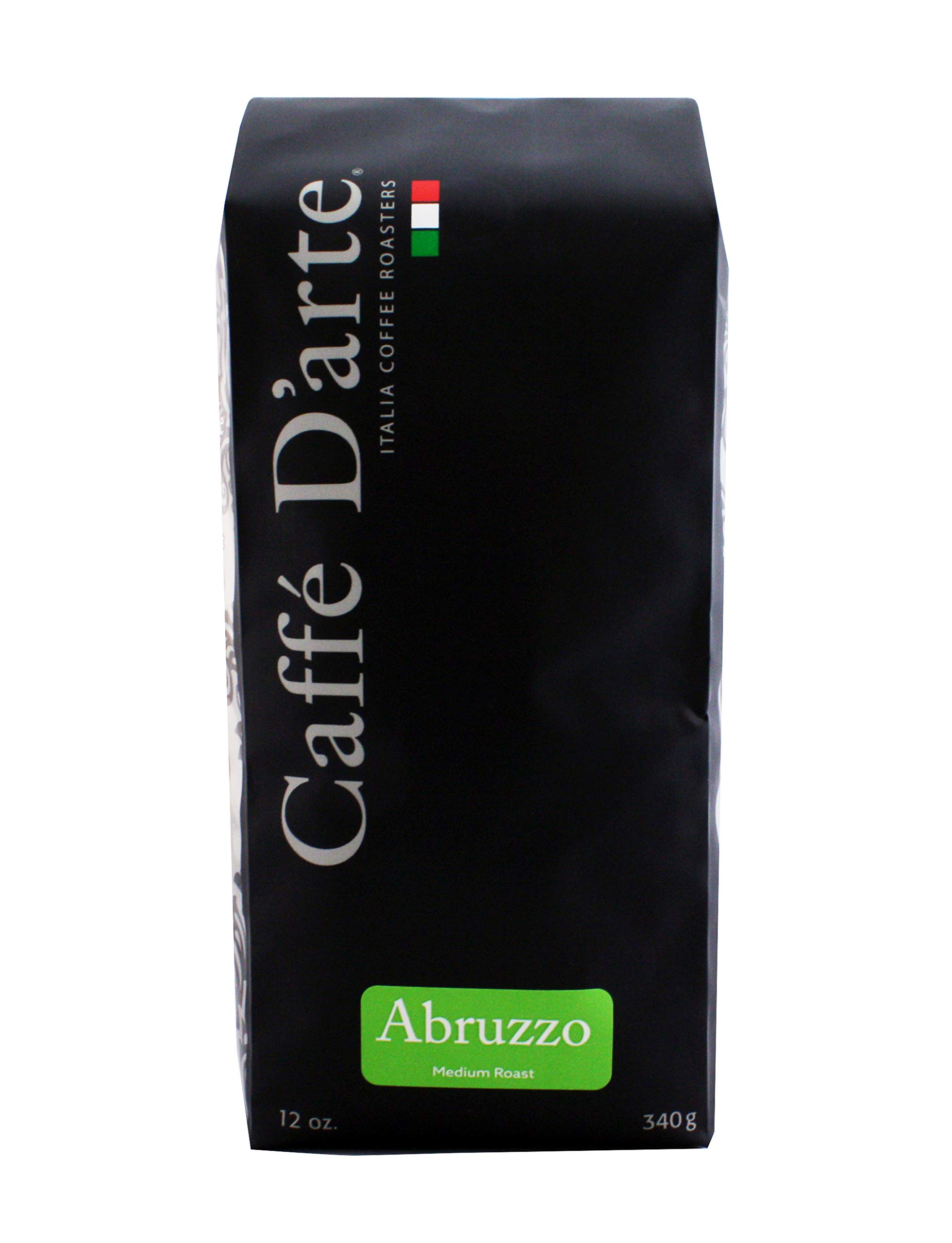 Caffé D'arte - Abruzzo Blend Gourmet Coffee, Medium Roast Coffee, Ground for Drip, Authentic Italian Style, Handcrafted in Small Batches, Kosher. 12oz Bag