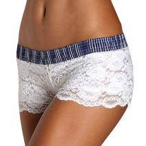 Foxers Original Lace Boxer Brief Underwear for Women Sexy Sheer Lace Boy Shorts | XS-XXL