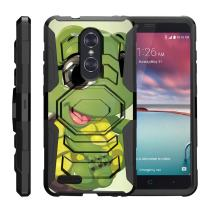 TurtleArmor | Compatible with ZTE ZMax Pro Case | ZTE Blade X Max Case [Octo Guard] Dual Layer Silicone Hybrid Armor Hard Belt Clip Holster Impact Tough Kickstand Case Animal - Baby Turtle