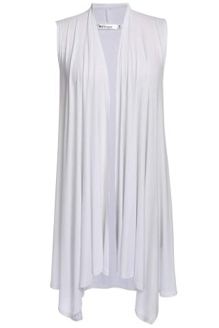 Meaneor Womens Long Vests Lightweight Open Front Draped Sleeveless Cardigan Vest