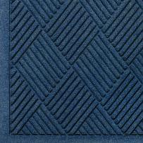"""M+A Matting 221 Waterhog Fashion Diamond Polypropylene Fiber Entrance Indoor Floor Mat, SBR Rubber Backing, 12.2' Length x 3' Width, 1/4"""" Thick, Navy"""