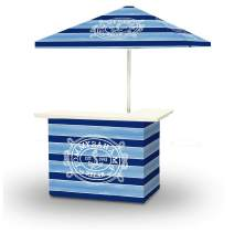 Best of Times 2001W2309 Tommy Bahama Portable Bar and 8 ft Tall Square Umbrella, One Size, Blue