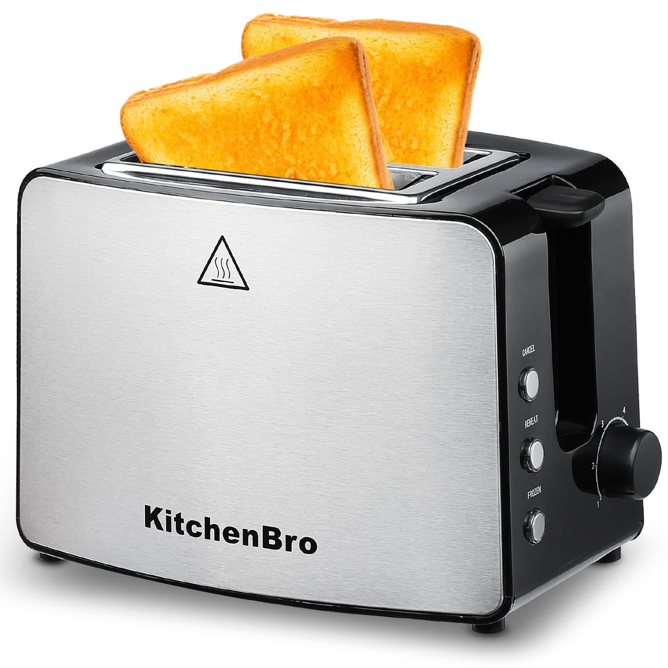 Toaster 2 Slice, Compact Bread Toasters Stainless Steel Housing best rated prime, 2 Extra Wide Slots
