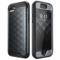 Clayco Hera Series Case Designed for iPhone 7/iPhone 8, Full-body Rugged Built-in Screen Protector Case for Apple iPhone 8 Case (2017)/ iPhone 7 Case (2016) (Black)