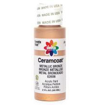 Delta Creative Ceramcoat Metallic and Pearl Acrylic Paint in Assorted Colors (2 oz), 2606, Metallic Bronze
