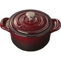 La Cuisine LC 2505 Casserole, Ruby Mini Round 4 In. Cast Iron