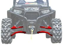 "SuperATV Heavy Duty High Clearance A-Arms for Polaris RZR S 900 / RZR 4 900 (2015-2016) - 1.5"" Offset - Red"