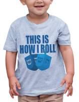 7 ate 9 Apparel Baby's How I Roll Funny Hanukkah T-Shirt