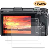 PCTC Tempered Glass Screen Protector Compatible for Ricoh GR III GR3 EM5 10 Anti-Scratch Waterproof Clear Touch 9H Tempered Glass Screen Protector (3 Pack)