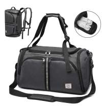 Windtook Sports Bag Travel Bags for Men Duffle Bag Gym Travel Weekender Bag with Shoes Compartment 40L