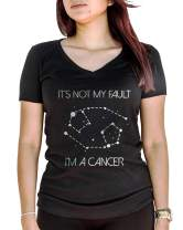 LeRage It's Not My Fault I'm A Cancer Shirt Birthday Horoscope Gift Women's