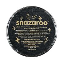 Snazaroo Face Paint, 18ml, Electric, Metallic Black, 6 Fl Oz