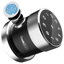 Geek Smart Door Lock - Keyless Fingerprint and Touchscreen Digital Door Lock, Secure Bluetooth, Easy Install, Great for Airbnb, Hotels and Offices, Homes, Apartments, Black(Upgraded 3.0)